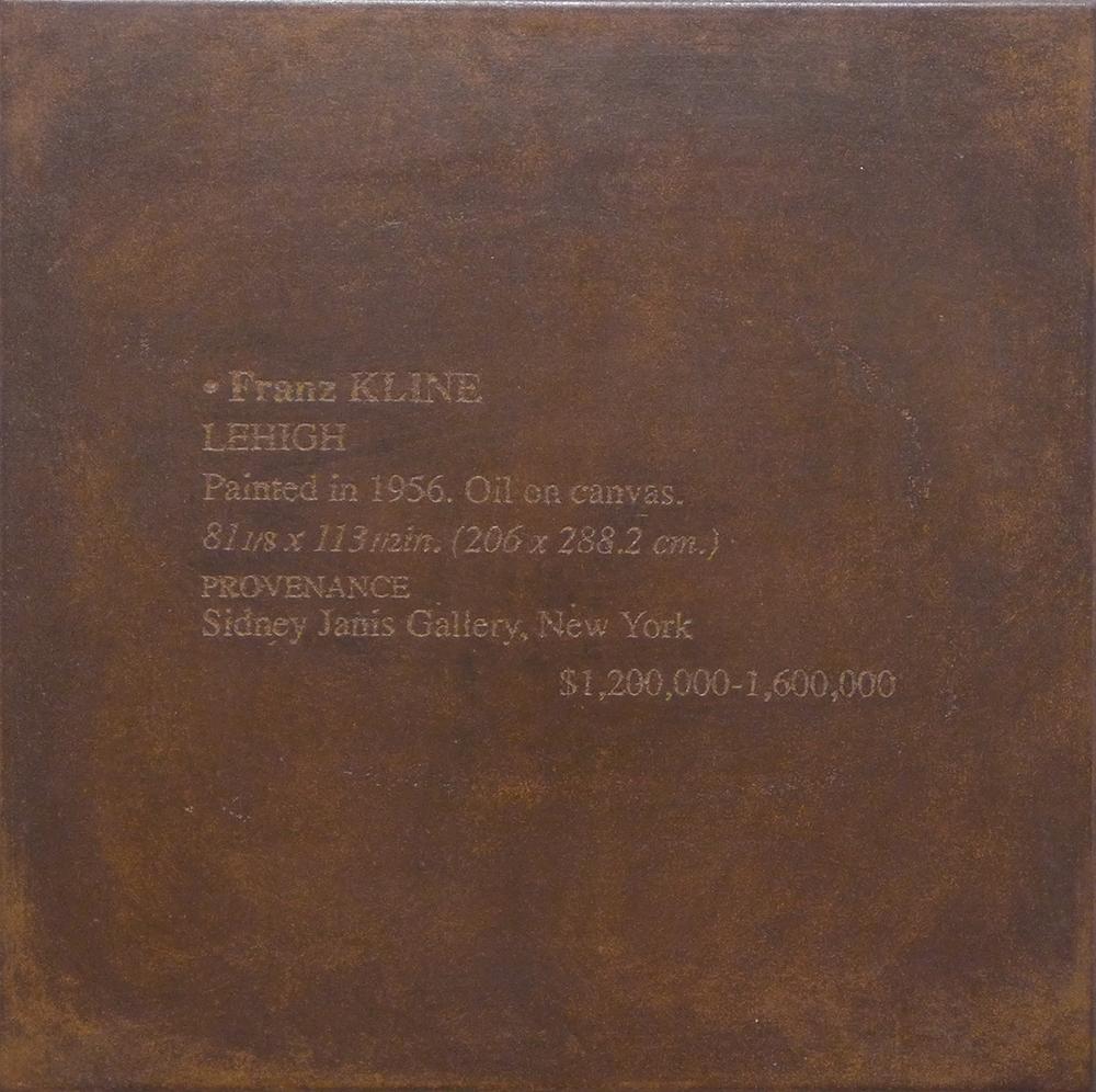 Franz Kline - RAFAEL TIMONER - TIM 0008